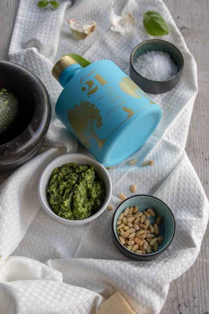 pesto olivenolje