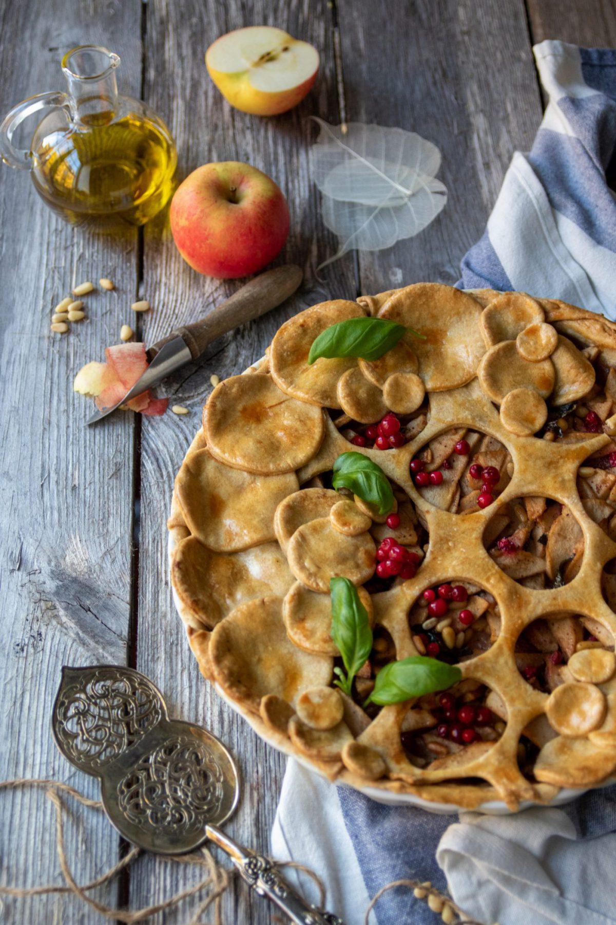 spelt pai med olivenolje