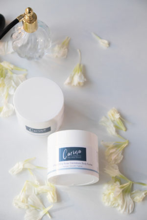 carina lifestyle geranium rose body butter