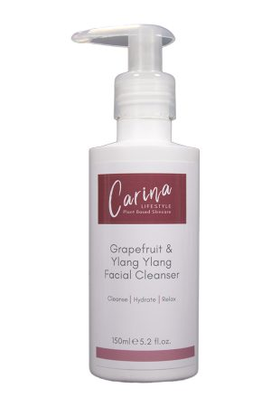 grapefruit and ylang ylang facial cleanser ansiktsrens carina lifestyle