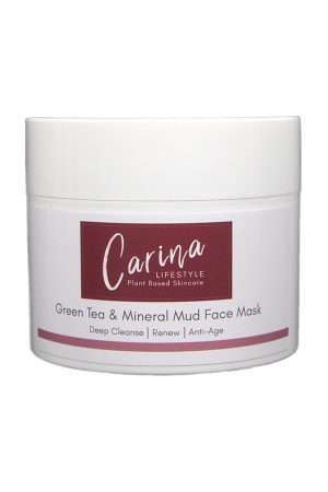 green tea mineral mud face mask carina lifestyle